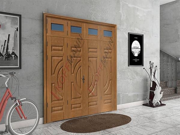 Cửa sắt giả gỗ 4 cánh đẹp nhất cho ngôi nhà bạn