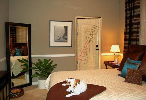 Cửa phòng ngủ thép vân gỗ cách âm chống ồn hiệu quả