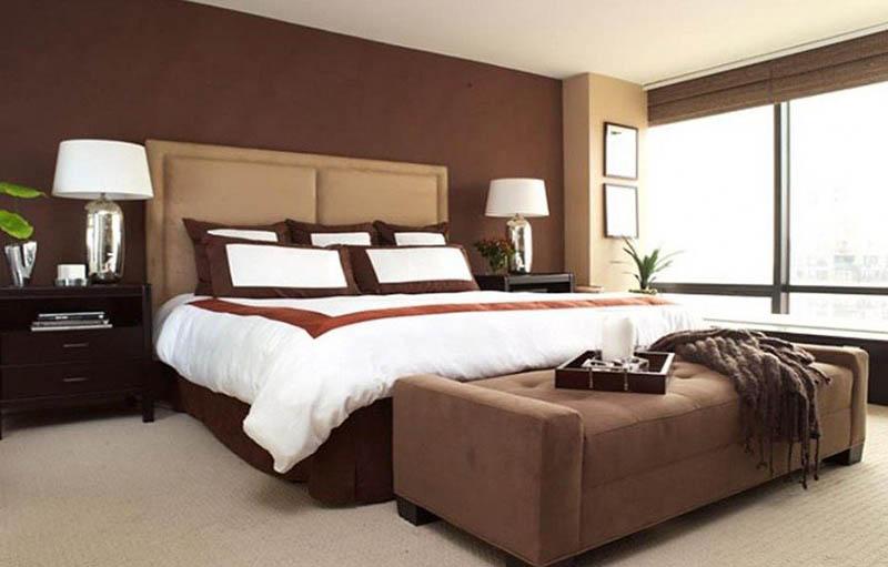 phòng ngủ màu nâu đẹp