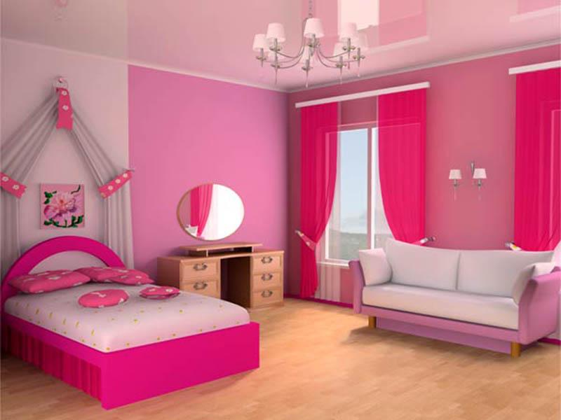 phòng ngủ sơn màu hồng đẹp