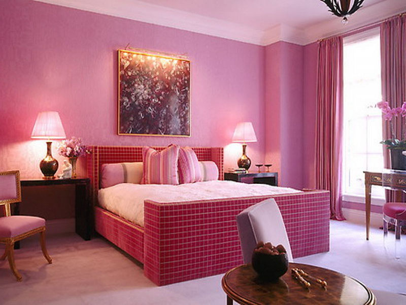 màu hồng cho phòng ngủ chủ nhà mệnh Thổ