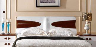 mẫu giường ngủ hiện đại bằng gỗ sồi