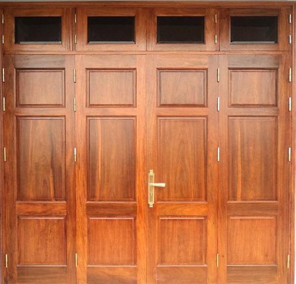 Lắp đặt cửa gỗ 4 cánh biệt thự sang trọng đẳng cấp châu Âu